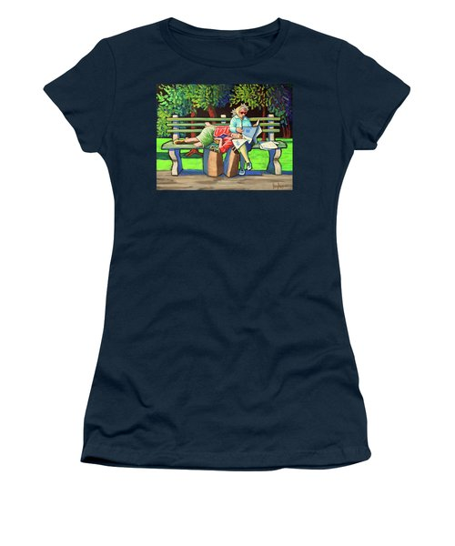 Two Ladies On Bench Women's T-Shirt