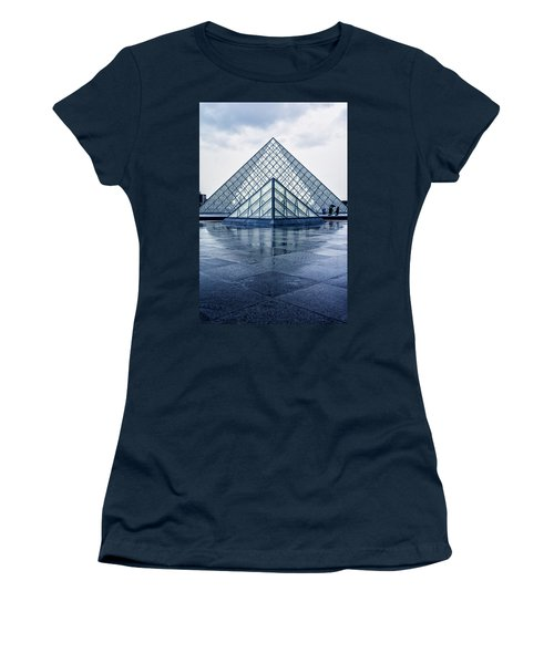 Two Louvre Pyramids Paris Women's T-Shirt (Athletic Fit)