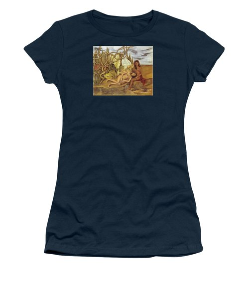 Two Nudes In The Forest Women's T-Shirt (Junior Cut) by Frida Kahlo