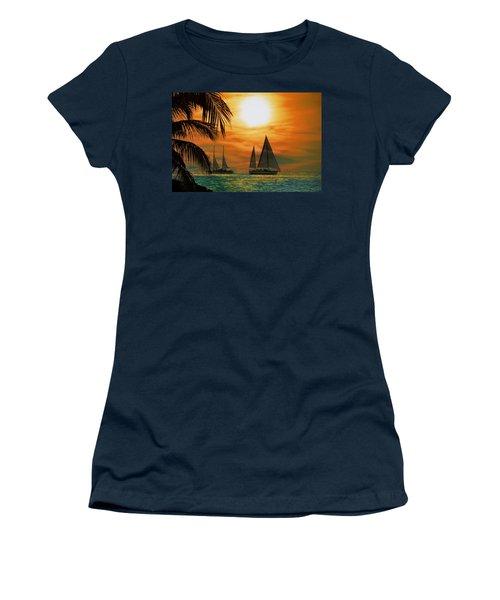 Two Ships Passing In The Night Women's T-Shirt