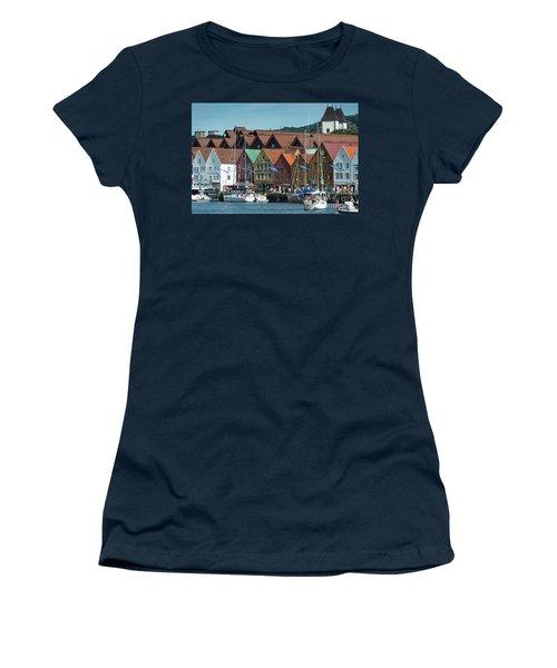 Tyske Bryggen Women's T-Shirt (Athletic Fit)