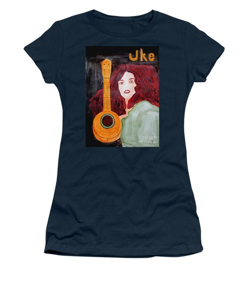Uke Women's T-Shirt (Junior Cut) by Sandy McIntire