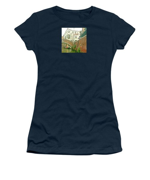 Women's T-Shirt (Athletic Fit) featuring the photograph Under The Bridge by Anne Kotan