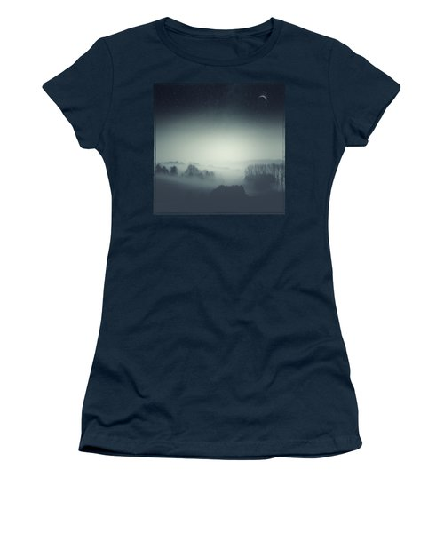 Underlying Tension - Monochrome Rural Landscape Women's T-Shirt