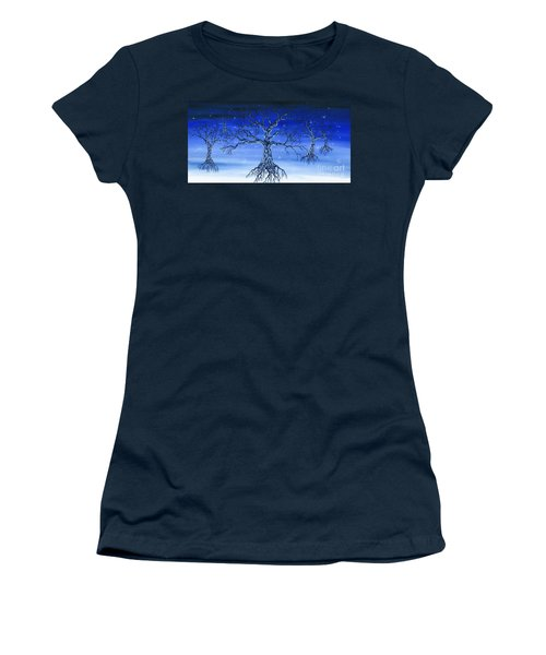 Women's T-Shirt (Junior Cut) featuring the painting Underworld by Kenneth Clarke