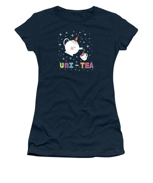 Unitea  Cute Unity Rainbow Tea Pot And Cup Women's T-Shirt
