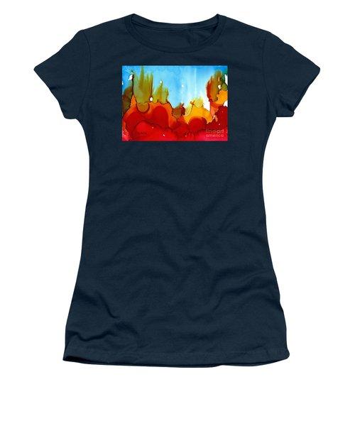 Up In Flames Women's T-Shirt (Junior Cut) by Yolanda Koh