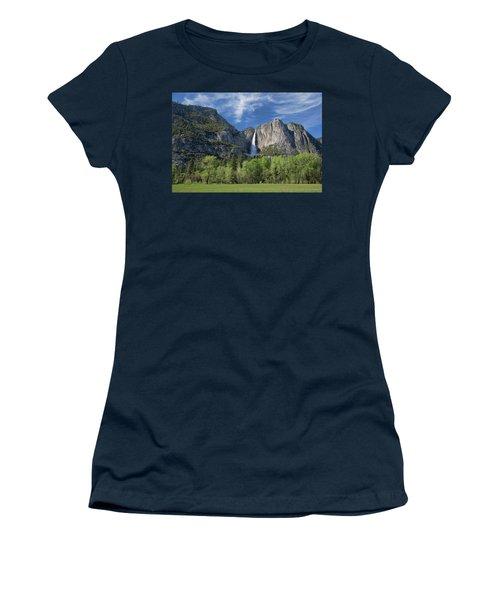 Upper Yosemite Falls In Spring Women's T-Shirt