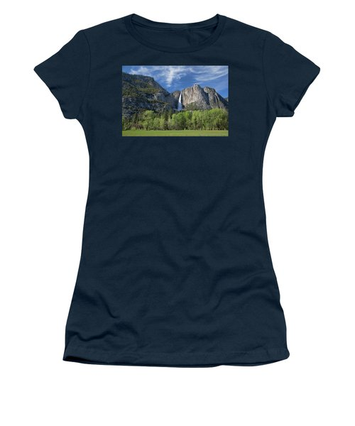 Upper Yosemite Falls In Spring Women's T-Shirt