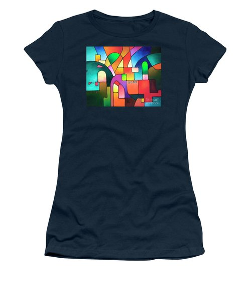 Urbanity Women's T-Shirt (Junior Cut) by Sally Trace
