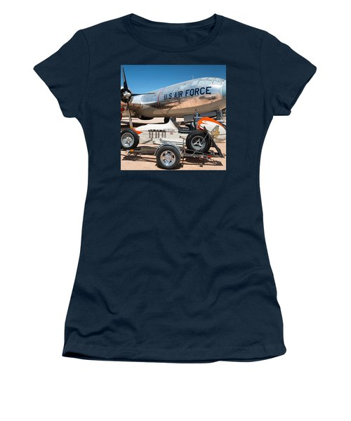 Us Air Force Airplane And Race Car  Women's T-Shirt