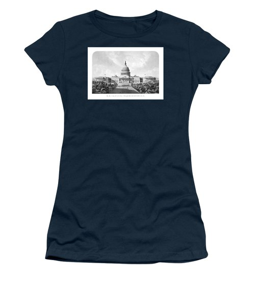 Us Capitol Building - Washington Dc Women's T-Shirt (Athletic Fit)