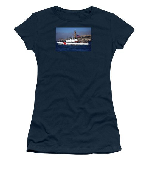 Uscg Hawksbill Patrols San Francisco Bay During Fleet Week Women's T-Shirt (Athletic Fit)
