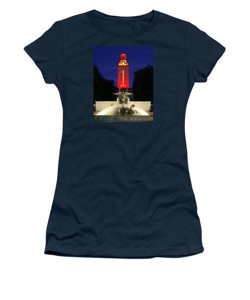 Ut Austin Tower Orange Women's T-Shirt (Junior Cut) by Lisa  Spencer