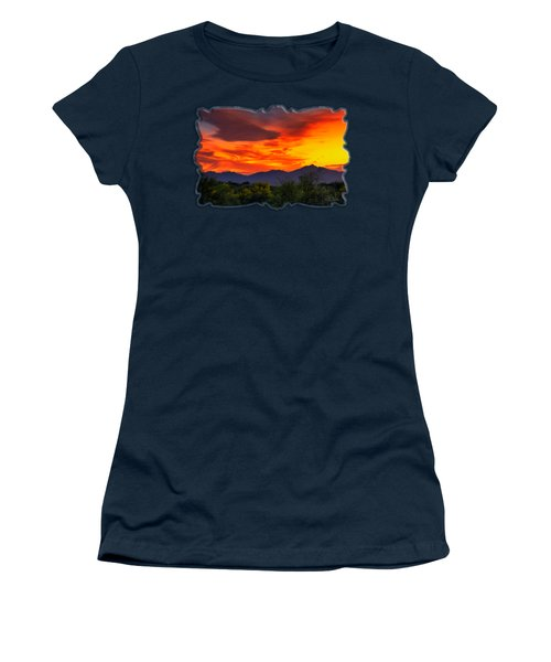 Valley Sunset H32 Women's T-Shirt (Junior Cut) by Mark Myhaver