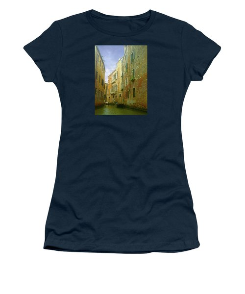 Women's T-Shirt (Athletic Fit) featuring the photograph Venetian Canyon by Anne Kotan
