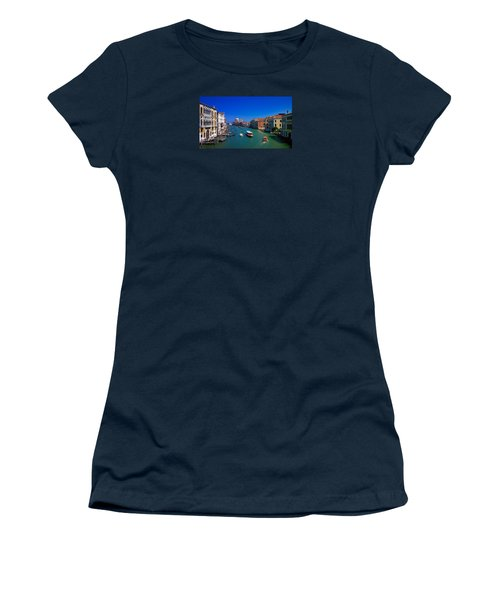 Women's T-Shirt (Athletic Fit) featuring the photograph Venetian Highway by Anne Kotan