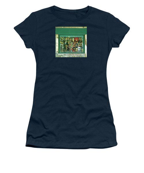Women's T-Shirt (Athletic Fit) featuring the photograph Venetian Masks by Anne Kotan