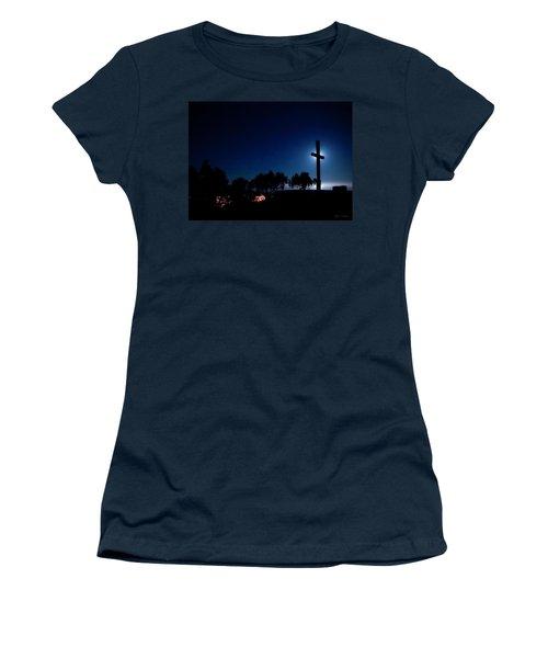 Ventura Ca Cross At Moonset Women's T-Shirt (Athletic Fit)
