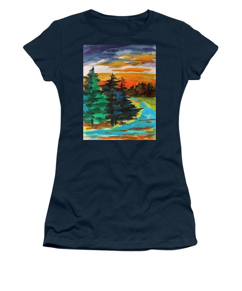 Women's T-Shirt (Junior Cut) featuring the painting Very Quiet by John Williams