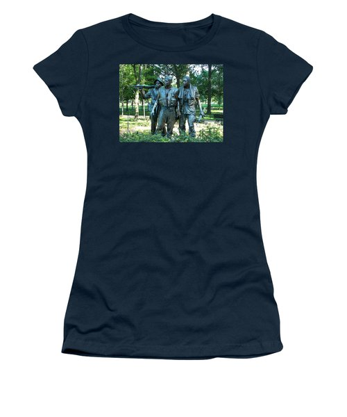 Vietnam War Memorial Statue Women's T-Shirt (Athletic Fit)
