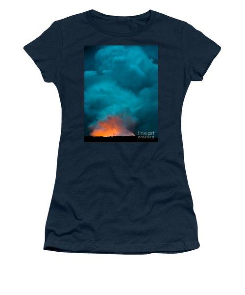 Volcano Smoke And Fire Women's T-Shirt