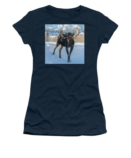 Walkin' The Road Women's T-Shirt (Athletic Fit)