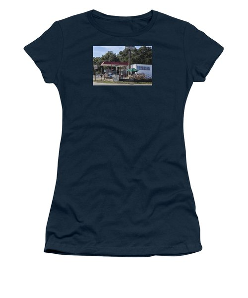 Walking Canes And Staffs At The Comeback Carwash Women's T-Shirt (Junior Cut) by Suzanne Gaff
