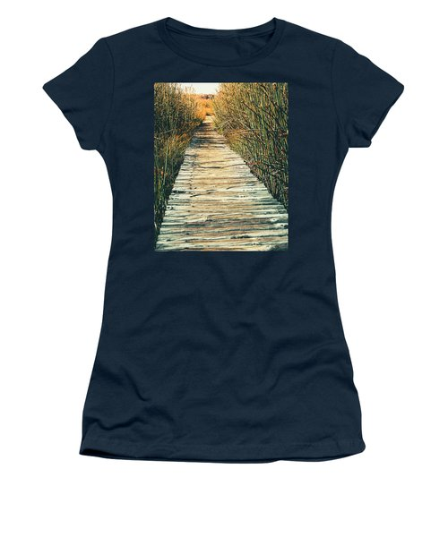 Women's T-Shirt (Junior Cut) featuring the photograph Walking Path by Alexey Stiop