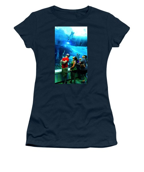 Watching The Penguins Fly Women's T-Shirt (Athletic Fit)