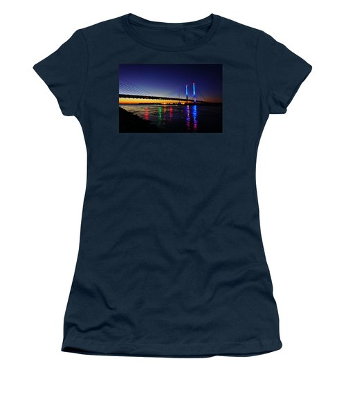Women's T-Shirt (Athletic Fit) featuring the photograph Water Colors by Ed Sweeney