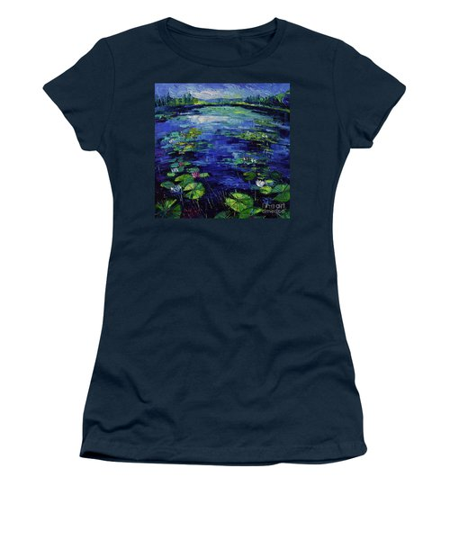 Water Lilies Magic Women's T-Shirt (Athletic Fit)