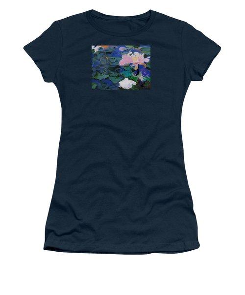 Waterlilies Six Women's T-Shirt (Junior Cut) by David Klaboe