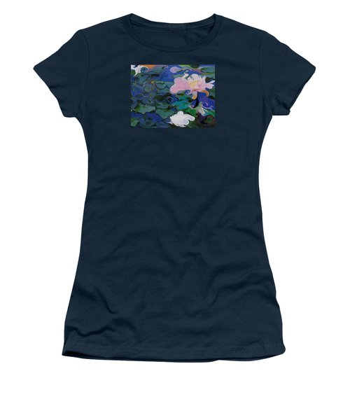 Waterlilies Six Women's T-Shirt (Athletic Fit)