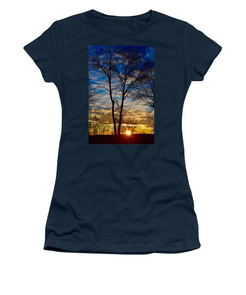 Weekend Sunrise In Minnesota Women's T-Shirt (Athletic Fit)