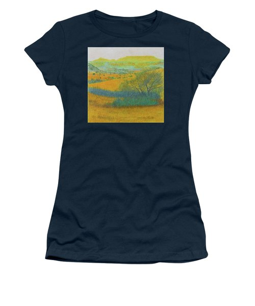 Women's T-Shirt featuring the painting West Dakota Reverie by Cris Fulton