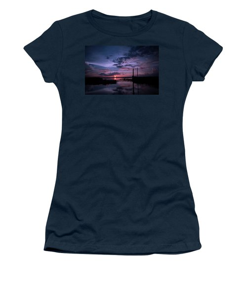 West Lake Toho Blu Indigo Sunset Women's T-Shirt (Athletic Fit)