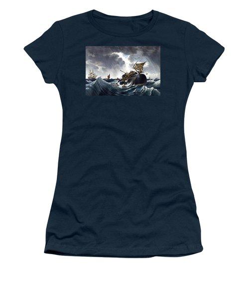 Whale Destroying Whaling Ship Women's T-Shirt