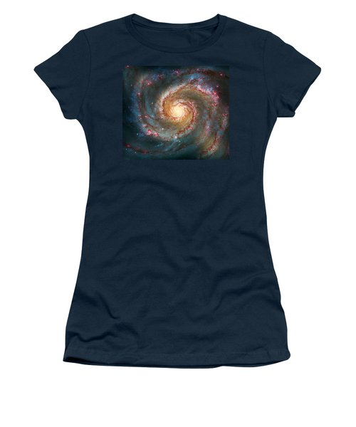 Whirlpool Galaxy  Women's T-Shirt (Junior Cut) by Jennifer Rondinelli Reilly - Fine Art Photography