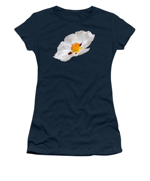 White Cistus Women's T-Shirt (Junior Cut) by Gill Billington