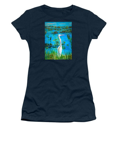 White Egret In Florida Women's T-Shirt