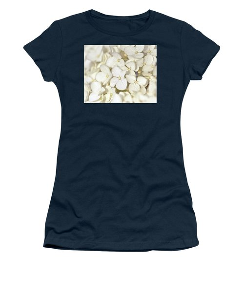 Women's T-Shirt (Athletic Fit) featuring the photograph White Hydrangea by Kerri Farley