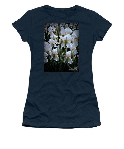 White Iris Garden Women's T-Shirt (Athletic Fit)