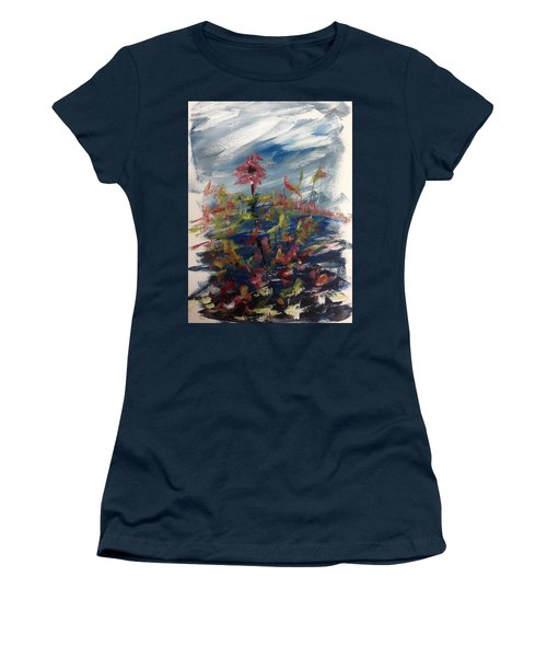 Wild Flowers On An Overcast  Day Women's T-Shirt (Athletic Fit)