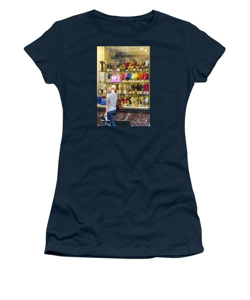 Women's T-Shirt (Junior Cut) featuring the photograph Window Shopper by Pravine Chester