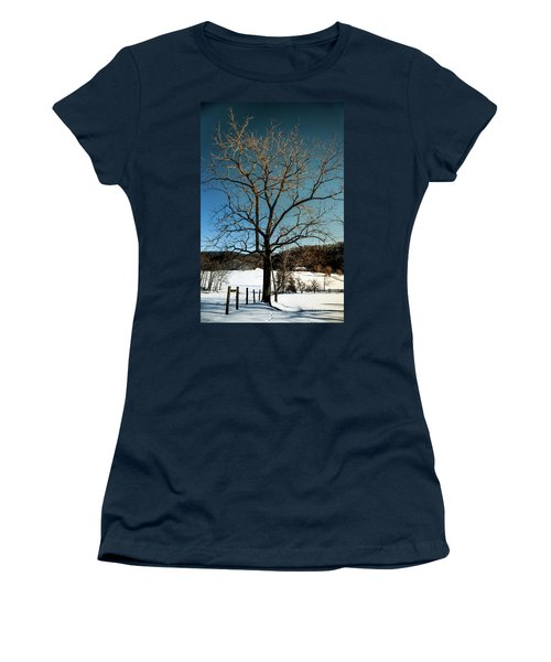 Winter Glow Women's T-Shirt (Junior Cut) by Karen Wiles
