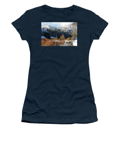 Winter I Big Cottonwood Canyon  Women's T-Shirt (Athletic Fit)