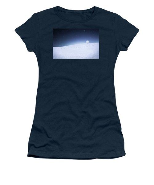 Women's T-Shirt (Junior Cut) featuring the photograph Winter Landscape by Bess Hamiti
