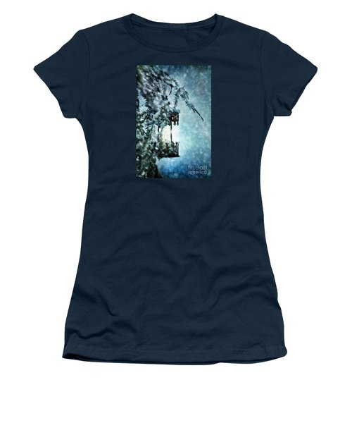 Winter Lantern Women's T-Shirt (Junior Cut) by Stephanie Frey