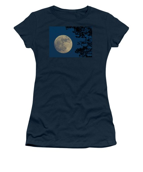 Winter Moon Women's T-Shirt (Junior Cut) by Randy Hall